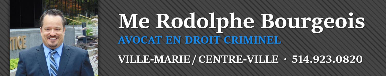 Me Rodolphe Bourgeois - Avocat en droit criminel